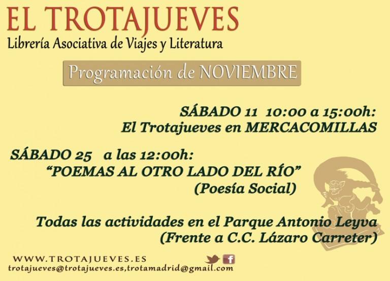 Mira y acércate a las activides de la Librería Asociativa EL TROTAJUEVES